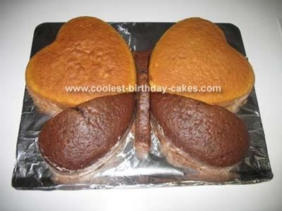use heart pans to make butterfly cakes.