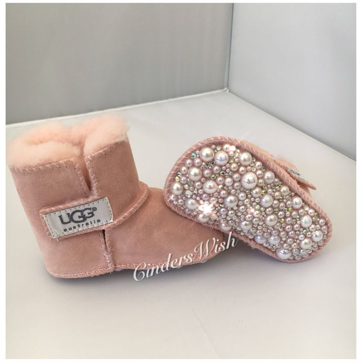 Excited to share the latest addition to my #etsy shop: Bling baby uggs / Premium crystal uggs / Swarvoski uggs / Baby booties / sparkly baby shoes / Crystalised Uggs #clothing #shoes #children #pink #christening #sparkly #customiseduggs #crystal #pearls
