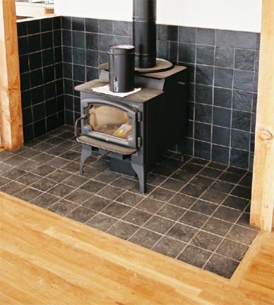 Wood Burn Stove Area   Kitchen   Portland   Architectural Art Tile