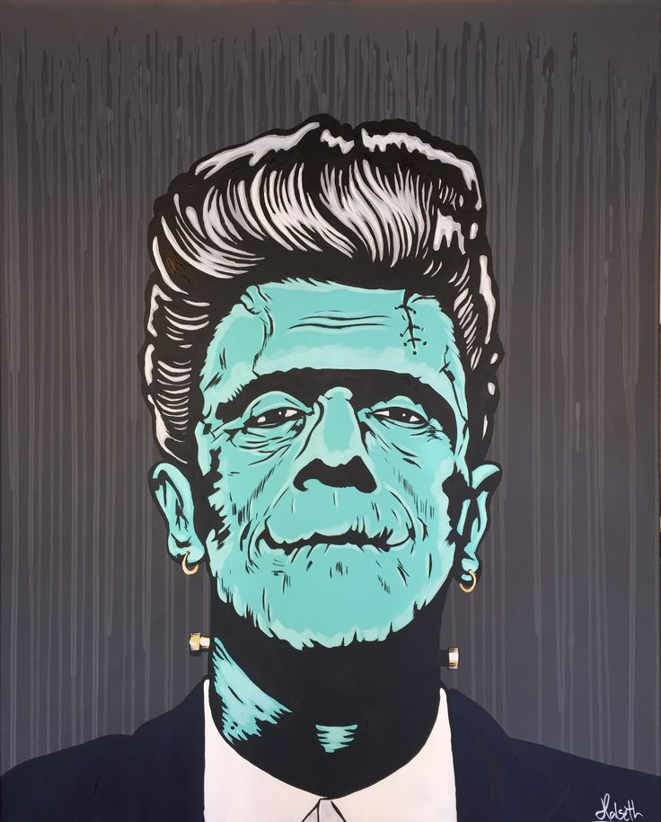 """Dr. Frankensteins Hipster"" Pop Art, Frankenstein, Art. Artist: Halseth. www.halseth-art.com"