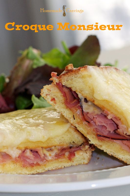 Croque Monsieur - Good! I used ciabatta bread, and a mix of swiss and Italian (parmesan, asiago, romano) instead of expensive gruyere. Even M liked it.