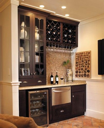 Small Wet Bar Ideas | Small Wet Bar With Wine Cooler