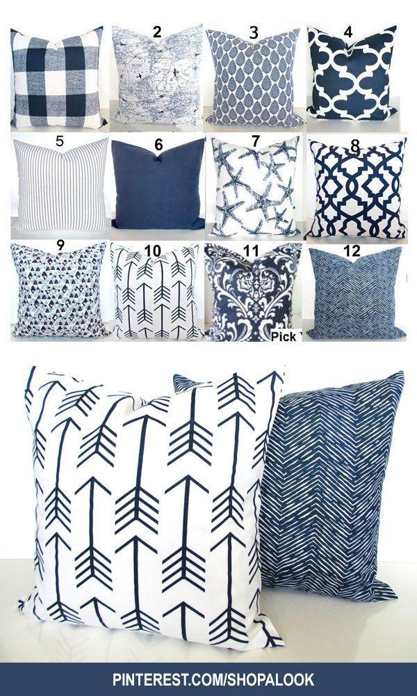 Blue PILLOWS Blue Throw Pillows Dark