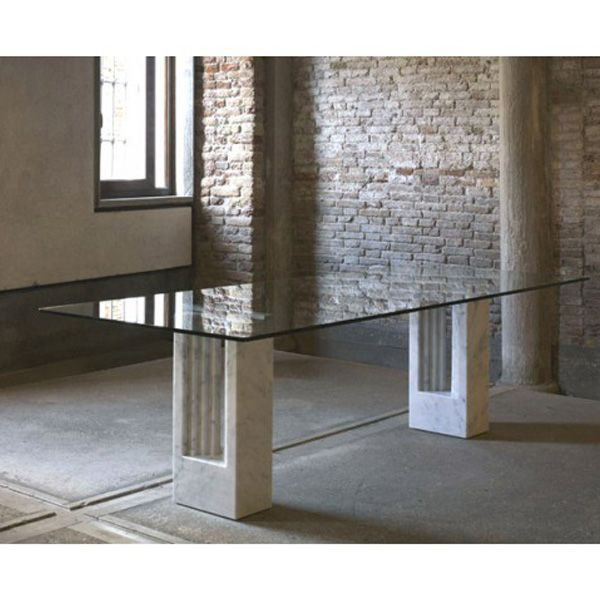Tavolo Delfi vetro - design Tobia Scarpa - Simon by Cassina