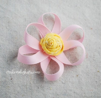 Hair Bow How To–Loopy Ribbon Flower Tutorial