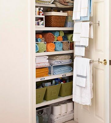 tips for keeping your linen closet organized  #home