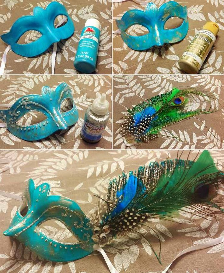 Bastelanleitung für eine Pfau Maske                                                                                                                                                                                 Mehr