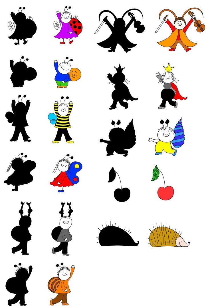 Bogyó és Babóca árnyjáték, szereplők - forrás: http://www.bogyoesbaboca.com/arnyjatek.php