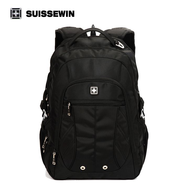 Suissewin Large Capacity Laptop Man's Backpack Multi-Pocket Bags Business Travel Classic Bags Swissgear Wenger  Mochila SN8110