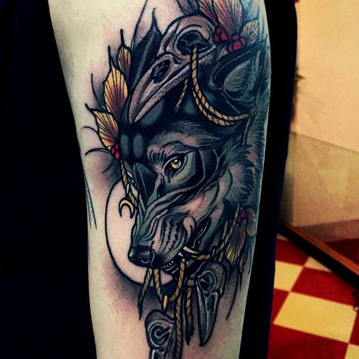 Wolf Tattoo Design Ideas For Men And Woman: D55060bb0ab95b49c38846b77eff3683.jpg (736×736)