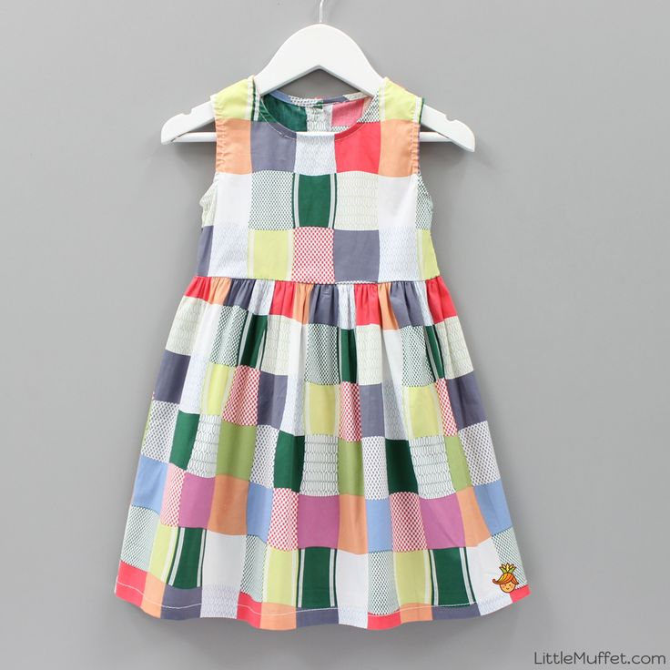 MultiColor Cotton Printed Sleeveles Dress #Dress #Multicolor #Sleeveless #Printed