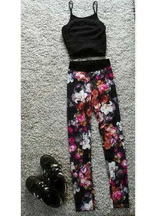 Kup mój przedmiot na #vintedpl http://www.vinted.pl/damska-odziez/legginsy/16119911-leginsy-w-kwiaty