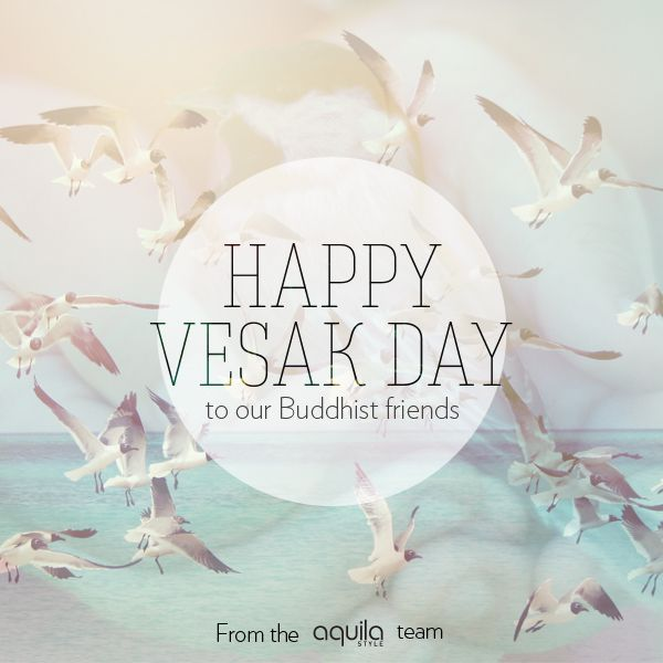 Happy Vesak Day to our Buddhist friends