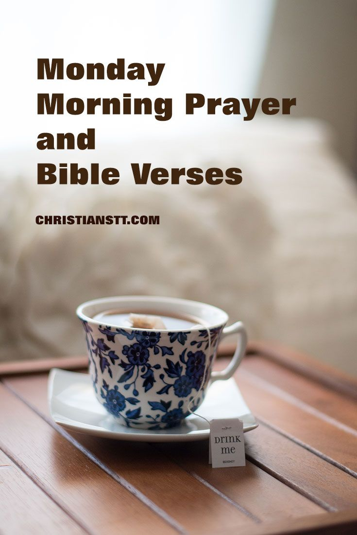 Monday Morning Prayer and Bible Verses