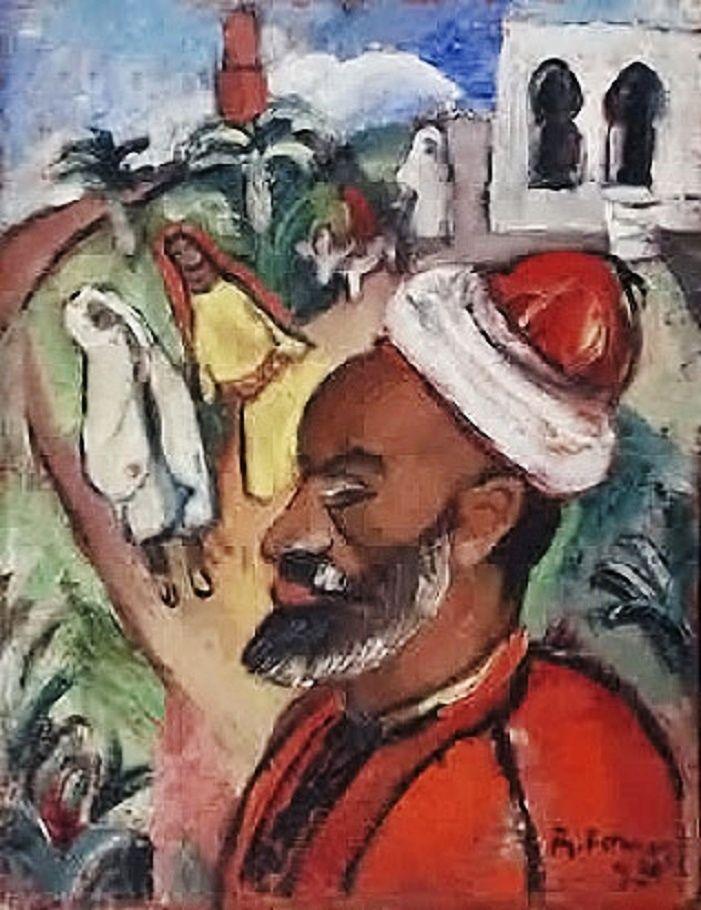 Djilali (retrato del árabe) o Paisaje de Tanger (1930) Raquel Forner