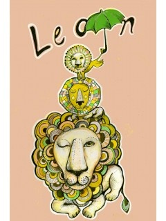 Sofie Børsting: Lion poster, illustration, kan købes indrammet i Tinga Tangos nye designbutik, Shop and webshop