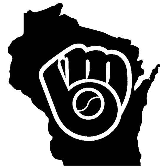 Milwaukee Brewers Wisconsin Pride Vinyl Decal by jdraimer on Etsy