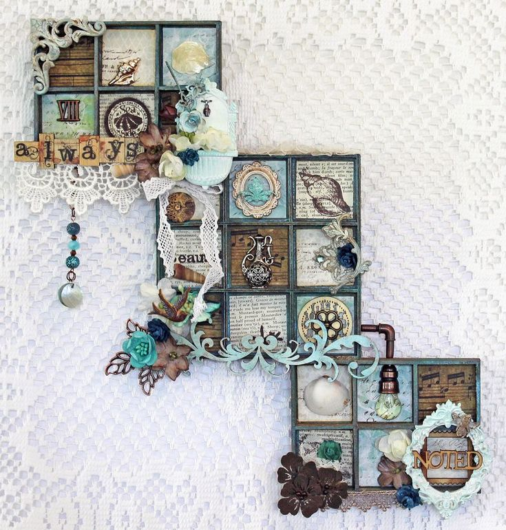 Denise   ***   With Mini Prima shadow box embellishment collections