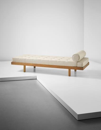 """PHILLIPS : NY050215, Charlotte Perriand Single bed, originally designed for a """"chambre d'étudiant,"""" Maison du Brésil, Cité Internationale Universitaire de Paris , circa 1959"""