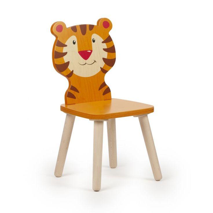 Kinderstuhl Holz Kleinkind Stuhl Tier Tiger Orange Sitzhohe 28 Cm Kindersitzgruppe Holz Kinderstuhl Holz Kindertisch Und Stuhle