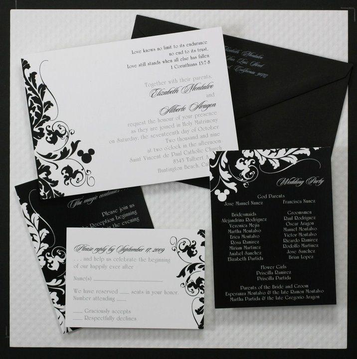 """Hidden"" Mickey wedding invitations...    I would hide it a little better, but I would like hidden Mickeys in my wedding!"