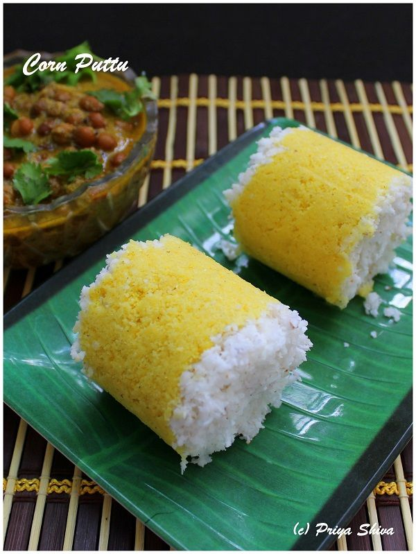 Corn Puttu - puttu is a popular breakfast in Kerala. Check out recipe to make puttu with maize flour/makki atta!