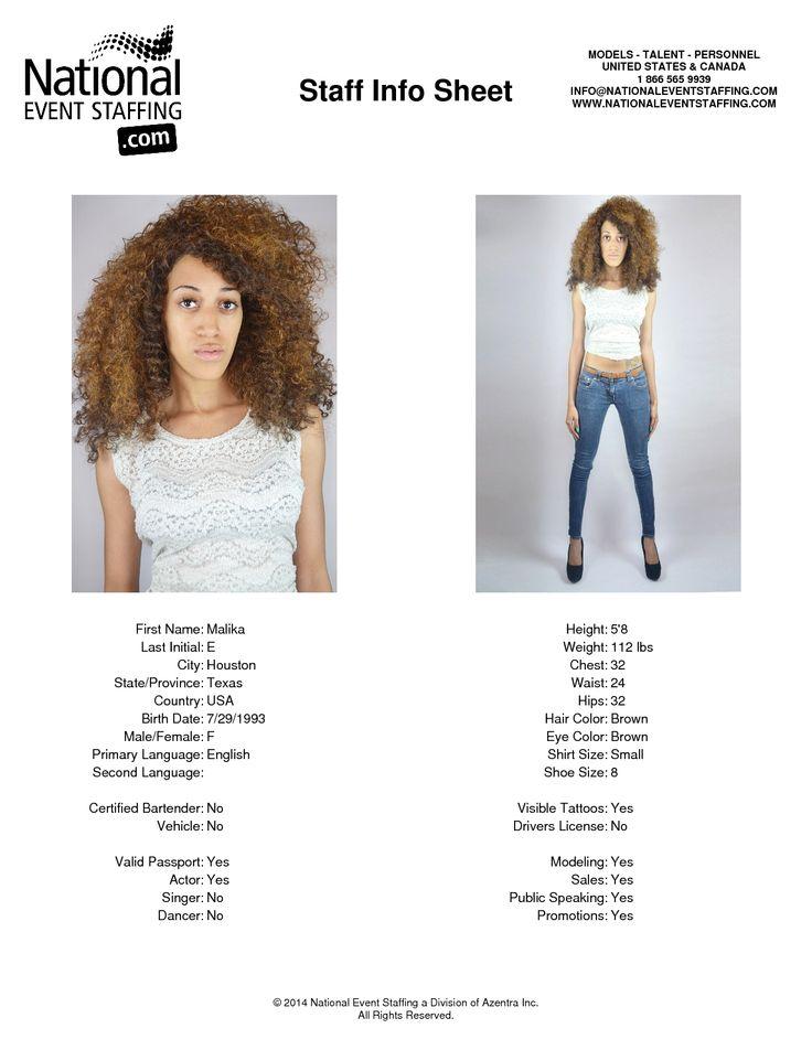 Malika e from houston texas usa actress model