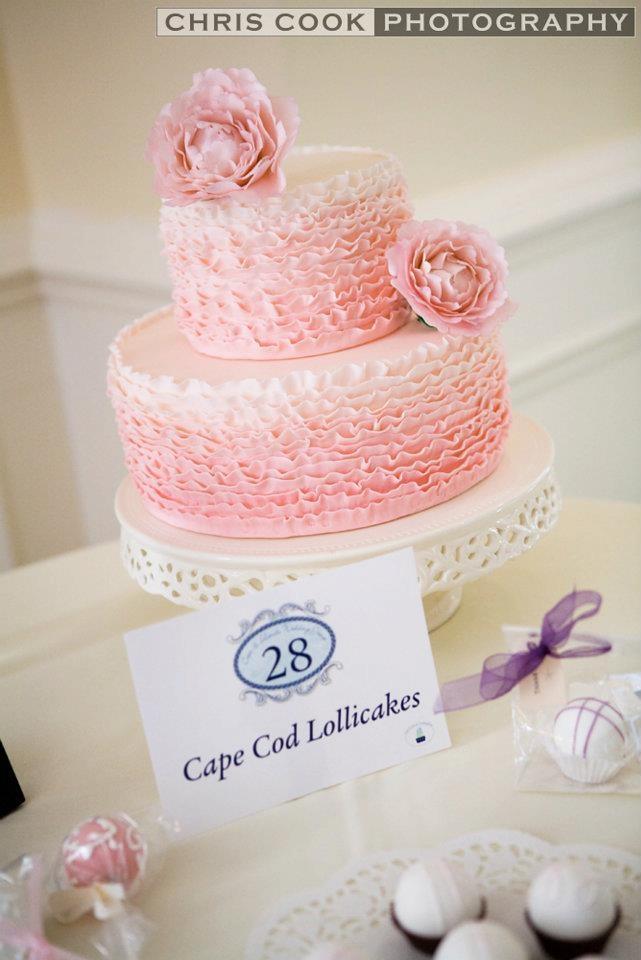 Ombre ruffle cake  Sarabeth Gall