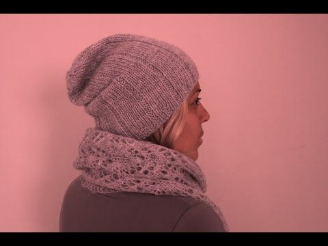 Ультрамодная удлиненная шапка БИНИ спицами. Мастер-класс. Современное вязание в тренде! - YouTube