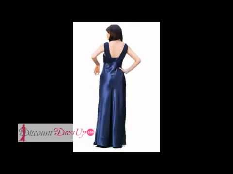 2686PO Bridesmaid Dress Long Formal Gown at DiscountDressUp.com - YouTube