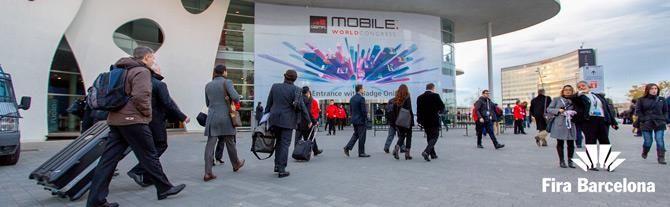 Mobile World Congress à la Fira de Barcelona, Barcelone - Catalogne (Espagne)