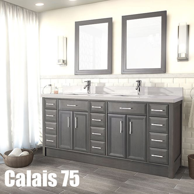 Studio Bathe Calais 75 In French Grey Vanity With