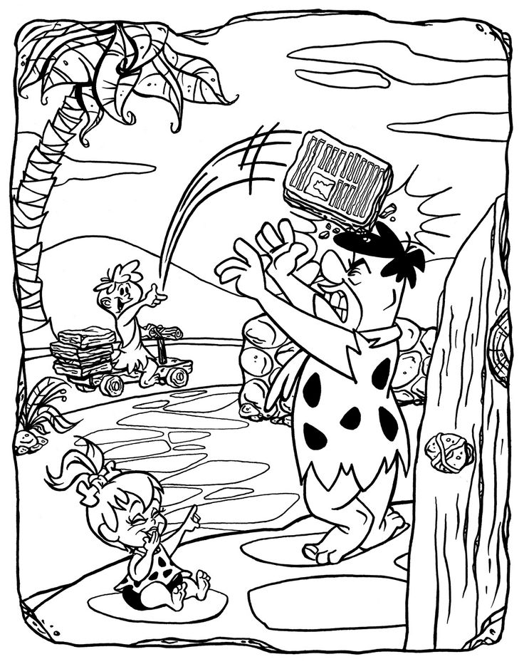 Fred And Arnold The Paper Boy Coloring Page