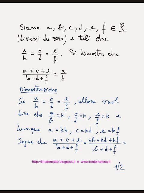 Esercizio svolto(con dimostrazione) sulle proporzioni, in particolare sulle catene di rapporti uguali