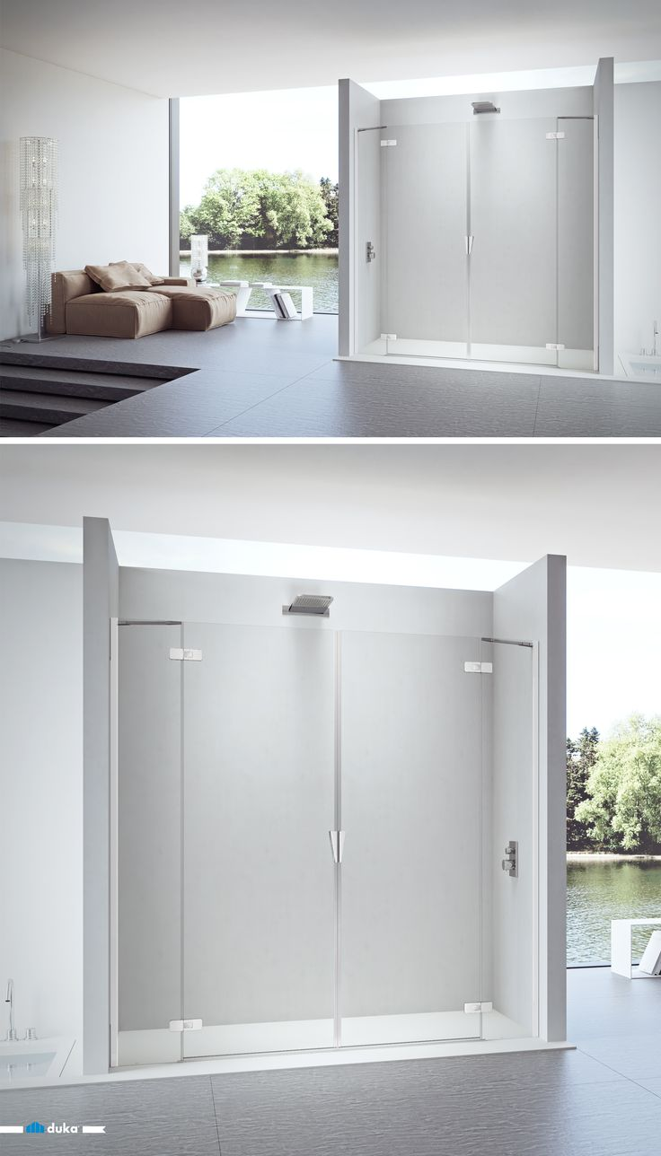 pura 5000 • even an over-sized niche construction is no problem for this shower enclosure. With the combination of two swing doors with fix panel, this model can reach up to 2.20m width and still look weightless thanks to the hinges and the perfectly incorporated handle.