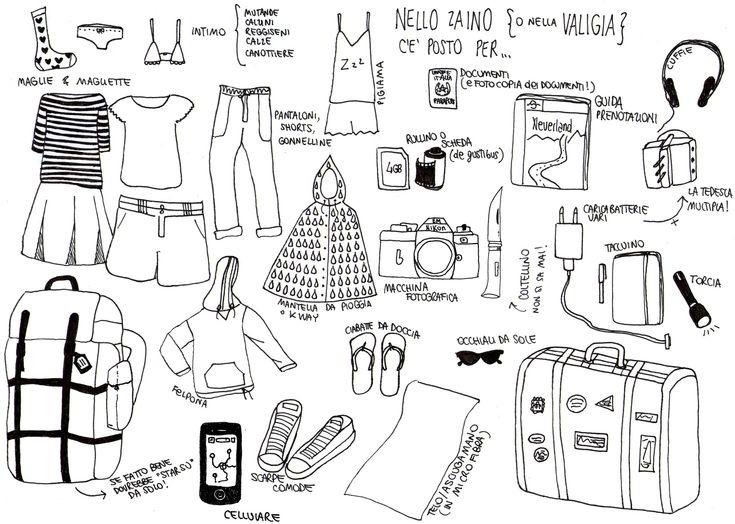 Cosa mettere in valigia? Liste scaricabili, illustrazioni adorabili e consigli utili | Via che si va
