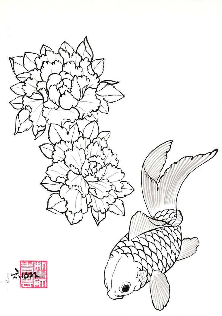 DRAWINGS | ChungWoon ART | TATTOO & ART #tattoo #oriental #peony #koifish #jdtattoo #청운
