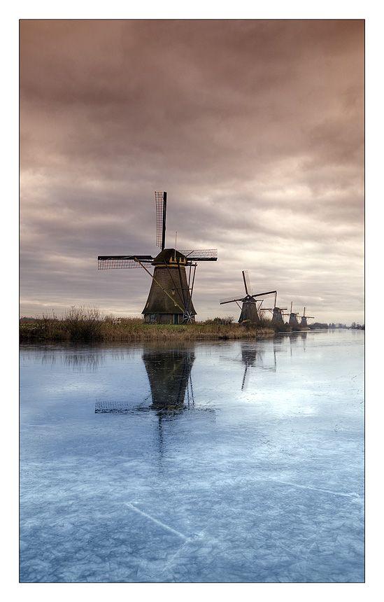 Mills, Kinderdijk, Netherlands. Visit shop.holland.com for towels inspired by these windmills