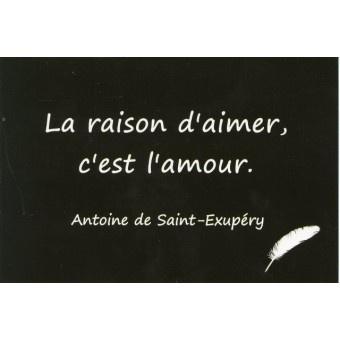 Carte Postale - Citation Antoine de Saint-Exupéry