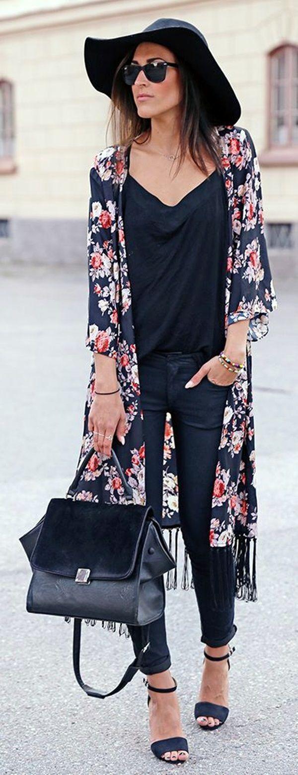 Best 25  Floral kimono outfit ideas on Pinterest | Kimono cardigan ...