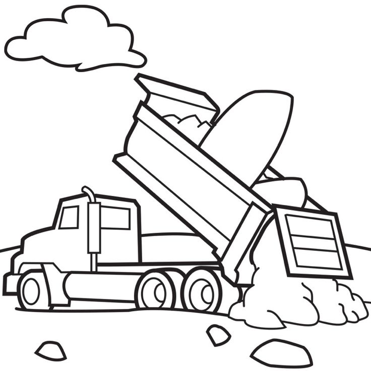 print coloring page and book dump trucks coloring page for kids of all ages - Big Truck Coloring Pages Kids