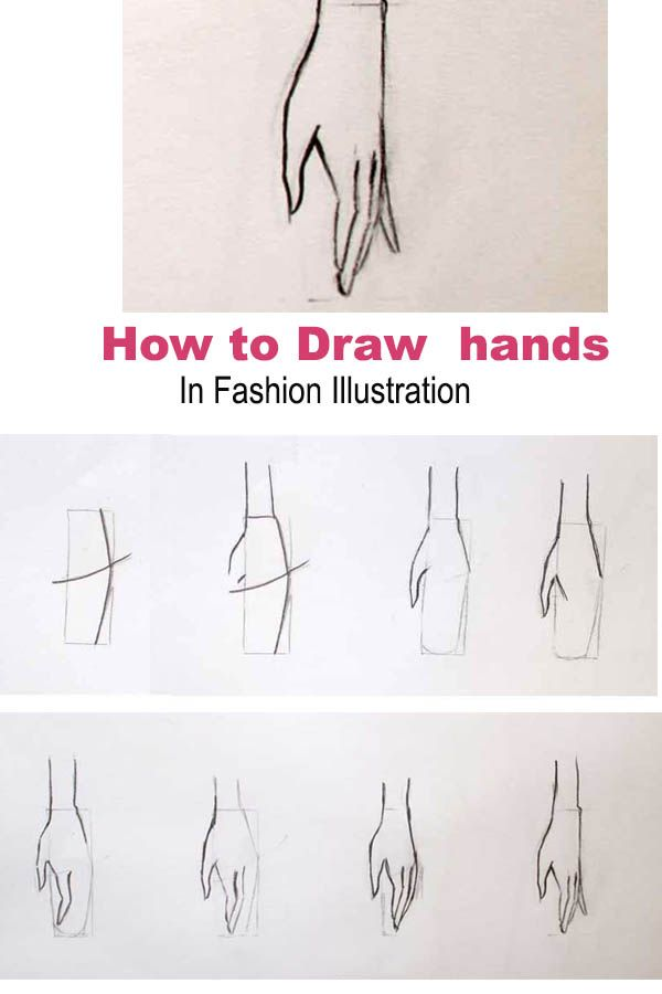 Learn how to draw hands for a fashion figure. This is easy tutorial for drawing …