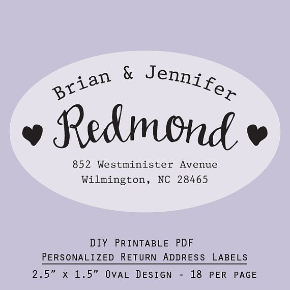 23 best Printable personalized labels images on Pinterest - sample address label