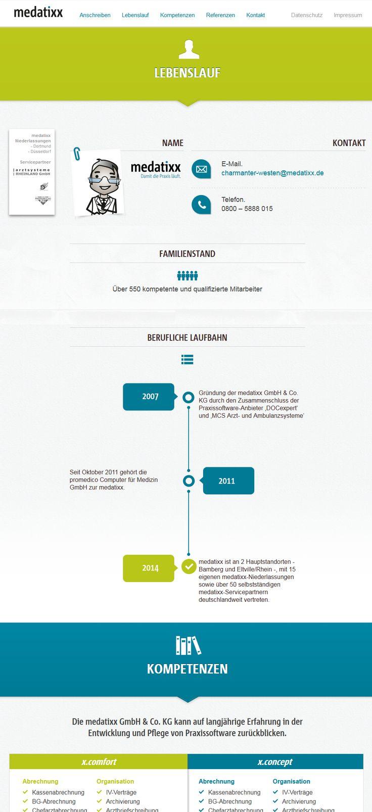 """Ein """"klassisches"""" Bewerbungsschreiben versendet die medatixx GmbH & Co. KG und bewirbt seine Produkte damit in Arztpraxen. Die Kampagne für die Region West wird durch ein postalisches Anschreiben in Form einer Bewerbung eingeleitet. Weiter geht es auf der zugehörigen Landingpage.…"""