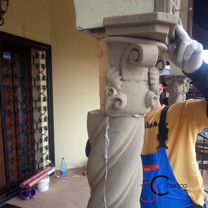 montare capitel coloane polistiren