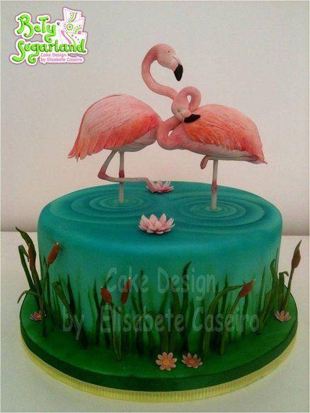 Fabulous Pink Flamingos Cake