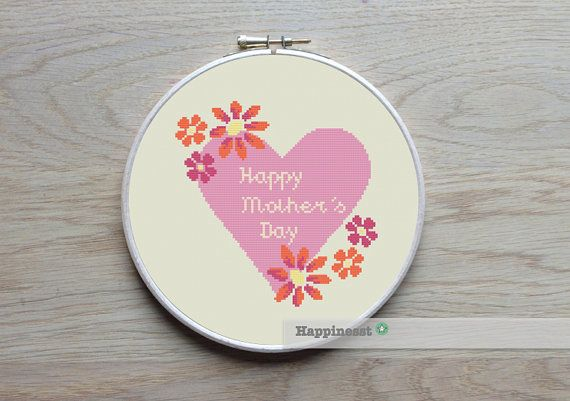 happy mother's day cross stitch pattern by Happinesst