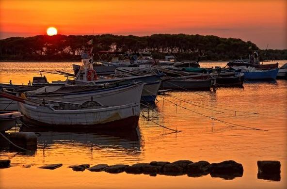 Sunset in Porto Cesareo, Lecce, Puglia, Italy