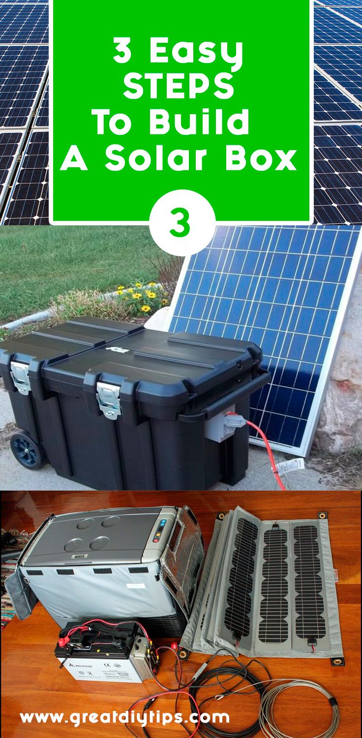 Build your own portable solar power generator device