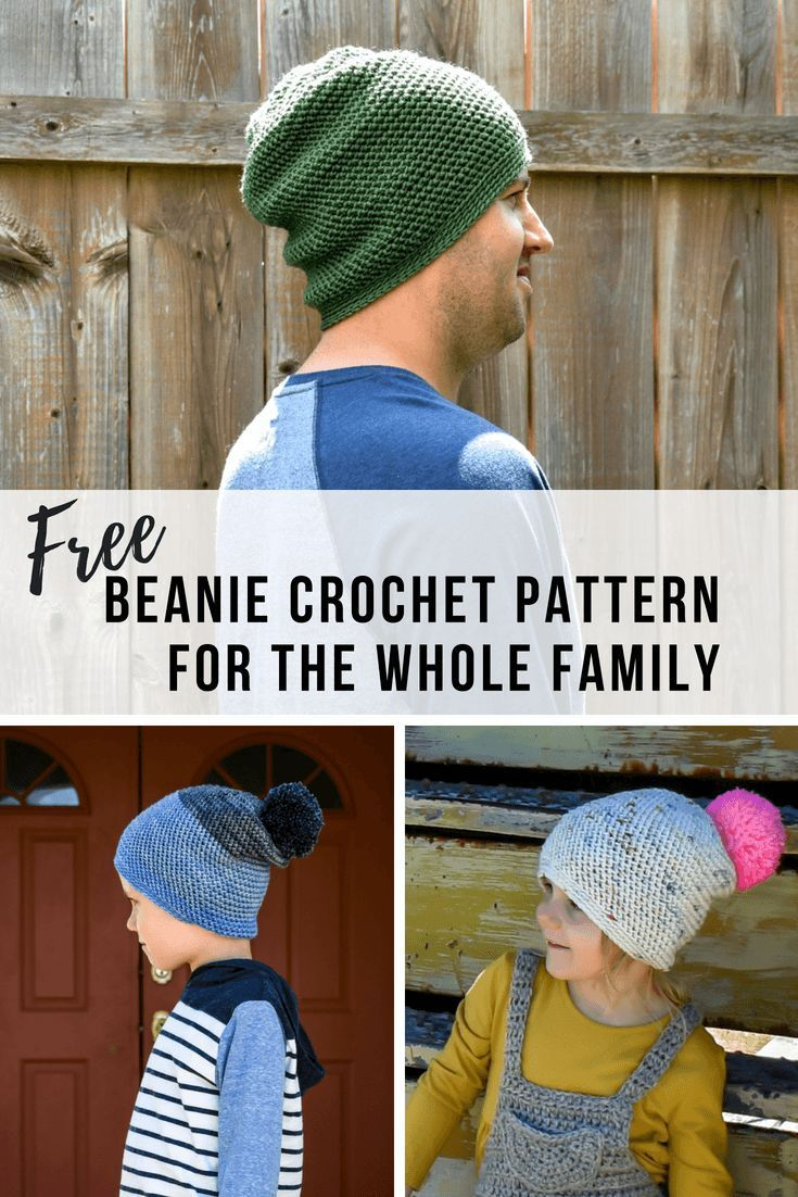 The Best Crochet Slouchy Beanie Pattern The Whole Family Will Love ...